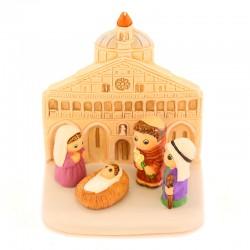 Padua Nativity scene in terracotta 8x9 cm