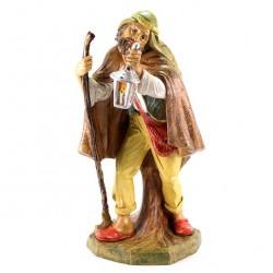 Colored Polythene Shepherd with Lantern 45 cm