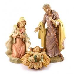 Colored Polythene Nativity 3 pieces 45 cm
