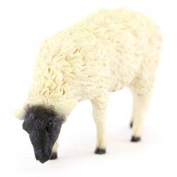 Colored Resin Sheep Eating Grass 8 cm
