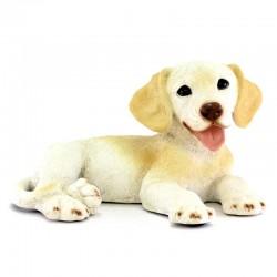 Cane cucciolo Labrador resina siliconica colorata 25x14 cm