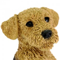 Silicone Resin Airedale Terrier Puppy 19x24 cm