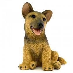 Cane cucciolo lupetto in resina siliconica colorata 22x28 cm