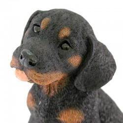 Silicone Resin Rottweiler Puppy 18x23 cm