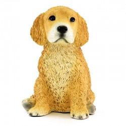 Cane golden retriever cucciolo in resina siliconica colorata 18x25 cm