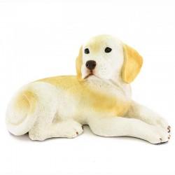 Cane labrador cucciolo in resina siliconica colorata 30x18 cm