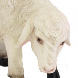 Sheep with high head for crib in colored resin 50x33 cm