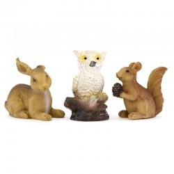 Forest animals for nativity scenes 5 pieces 4 cm