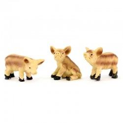 Boar family for nativity scene 4 pieces 4 cm