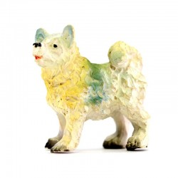 Dogs for nativity scene in colored resin 3 pieces 5 cm