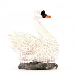 Swan for nativity scene in colored resin 4 cm