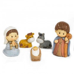 Nativity baby in colored resin 4 cm 10 characters