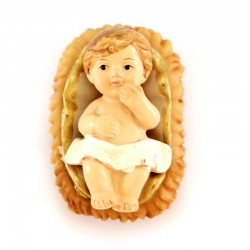 Nativity baby in colored resin 9 cm 3 pieces