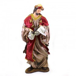 Three Wise Men in colored resin with dress 120 cm