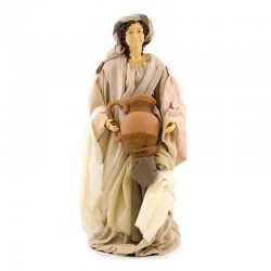 Woman with amphora and dressed with fabric 80 cm