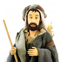 Shepherd with turban in resin dressed with clothes 80 cm
