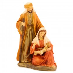 Nativity group in colored resin 20 cm