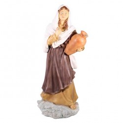 Silicone Resin Woman with Jug for Nativity 65 cm
