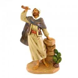 Arab Shepherd with horn in resin 19 cm Fontanini Cribs