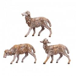 Pecore 3 pezzi in resina 19 cm Presepe Fontanini