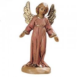 Angelo in piedi rosa in resina 6,5 cm Presepe Fontanini