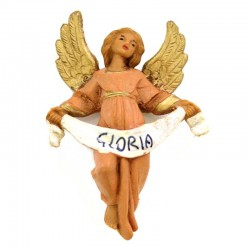 Angelo Gloria in resina 6,5 cm Presepe Fontanini