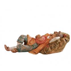 Pastorello addormentato in resina 12 cm Presepe Fontanini