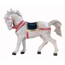White horse in resin 12 cm Fontanini cribs
