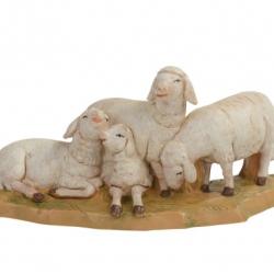 Flock of sheep in resin 12 cm Fontanini cribs