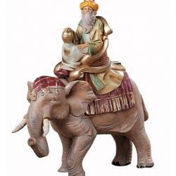 Black Wise Man on elephant in resin 12 cm Fontanini cribs