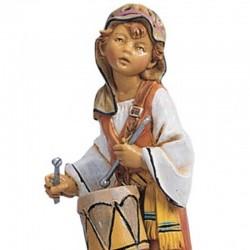 Shepherd with drum in resin 12 cm Fontanini cribs