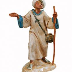 Shepherd with stick in resin 12 cm Fontanini cribs