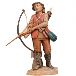 Hunter with bow in resin 12 cm Fontanini cribs