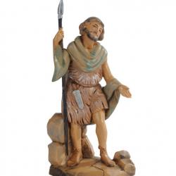 Hunter with knife in resin 12 cm Fontanini cribs