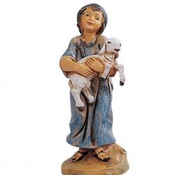 Boy with lamb in resin 12 cm Fontanini cribs
