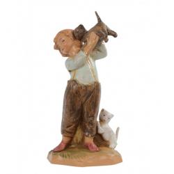 Ragazzo con gattini in resina 12 cm Presepe Fontanini