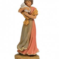 Girl with lamb in resin 12 cm Fontanini cribs