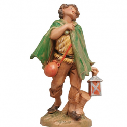 Young with lantern in resin 12 cm Fontanini cribs