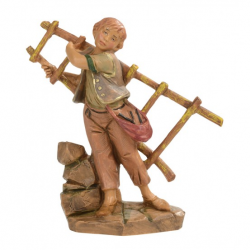 Young boy with ladder in resin 12 cm Fontanini cribs