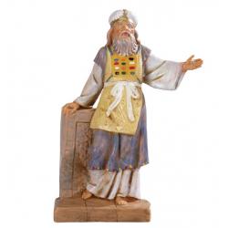 Pastore Sacerdote in resina 12 cm Presepe Fontanini