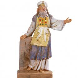 Pastor priest in resin 12 cm Fontanini cribs