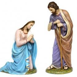 Fiberglass Couple Joseph and Mary 100 cm Landi