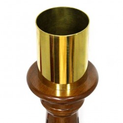 Paschal candle holder base with wooden capital 68 cm
