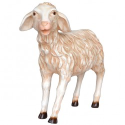 Resin Lamb, standing, lifted head 160 cm