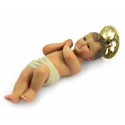 Gesù Bambino di Gerusalemme in gesso 16 cm