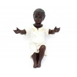 Gesù Bambino nero in resina 38 cm Landi