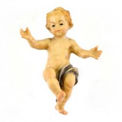 Gesù Bambino in legno colorato con pannetto 5 cm