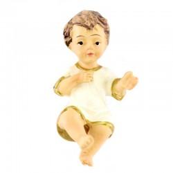 Gesù Bambino in resina con vestina avorio 4 cm