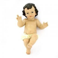 Gesù Bambino in resina con pannetto avorio 30 cm