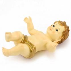 Resin Baby Jesus with Golden Vest 14x20 cm